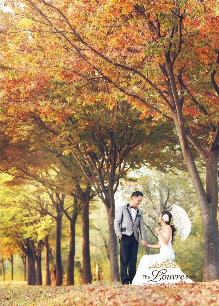 korea autumn pre-wedding