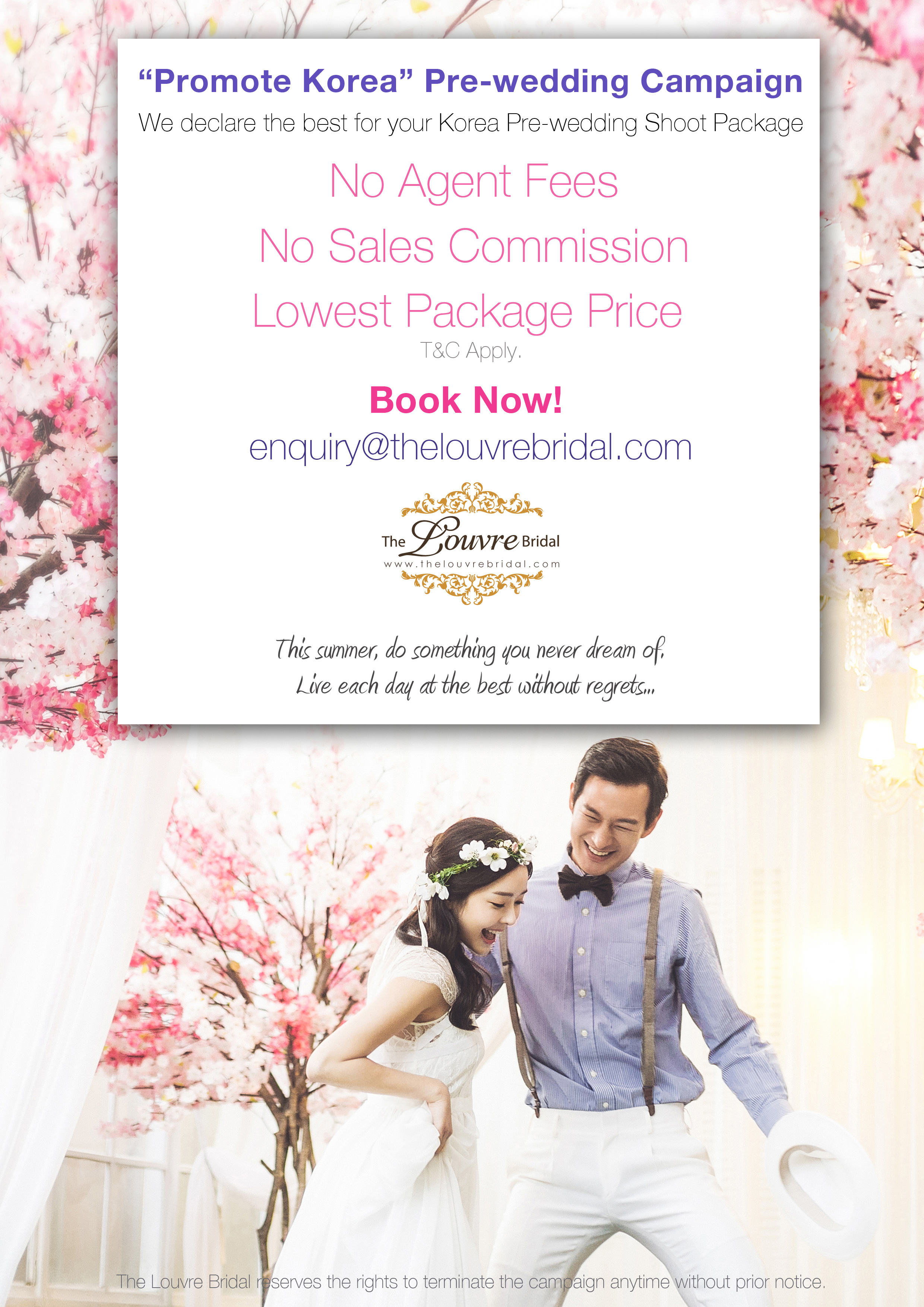 Lowest Priced Korea Pre Wedding Photoshoot Package In Singapore