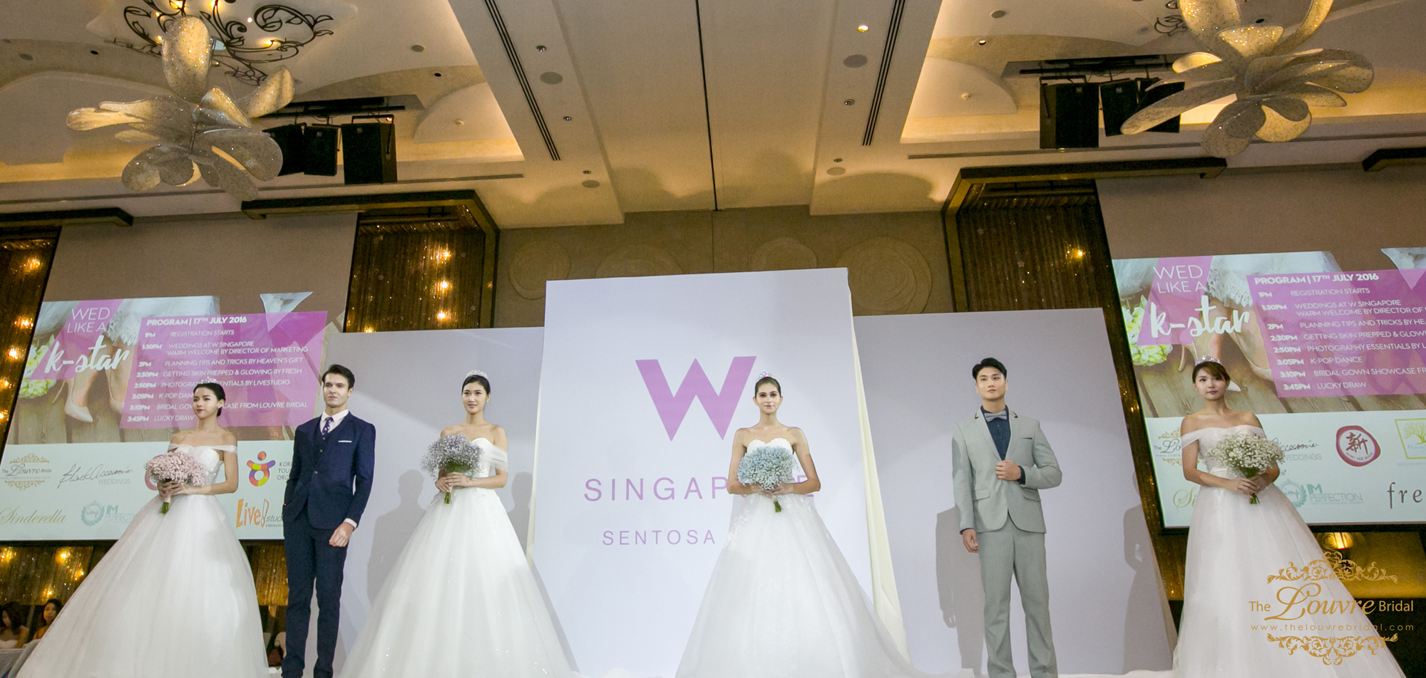 "First Korean-Inspired Wedding Showcase, ""Wed Like A K-Star"" at W Singapore Sentosa Cove"