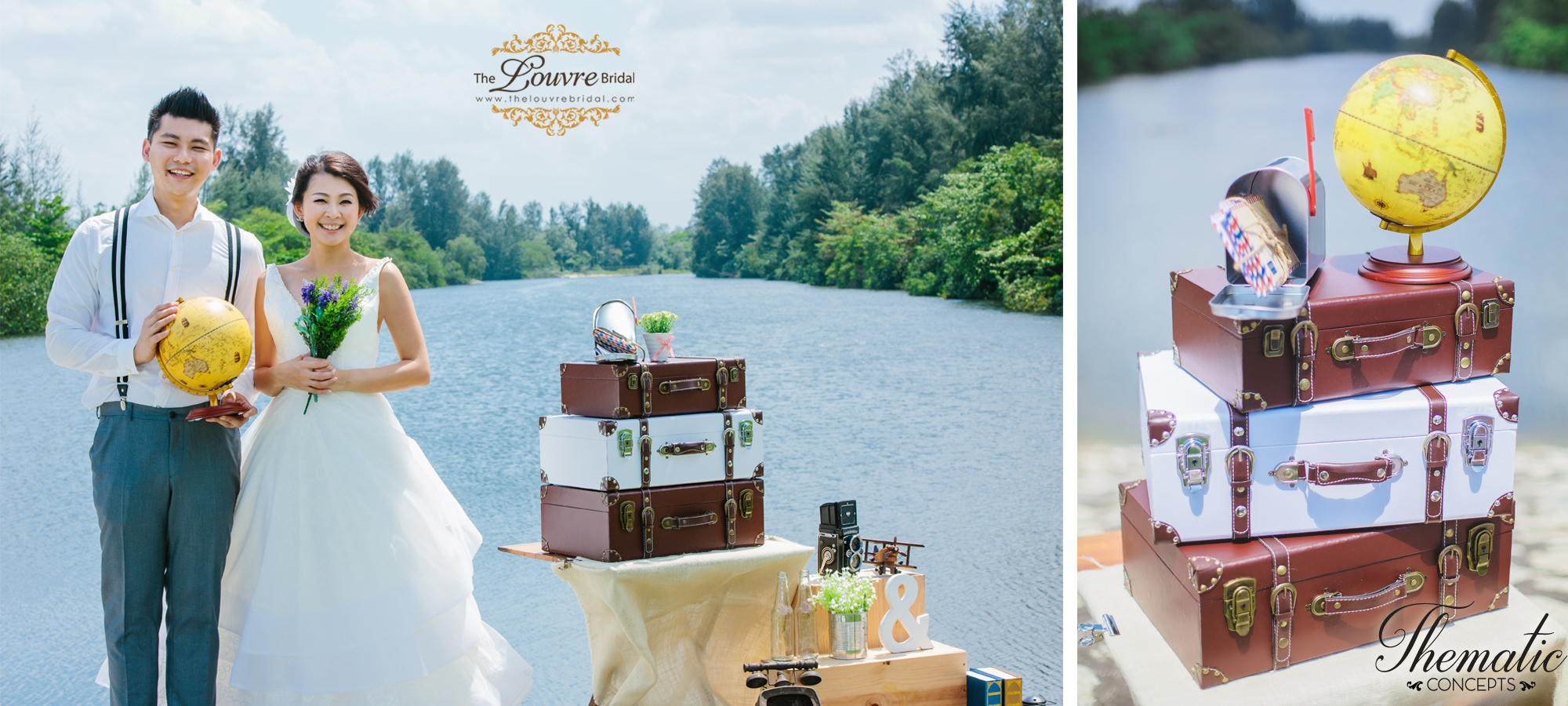 Styled Wedding Photoshoot Travel Theme For Your Singapore Pre