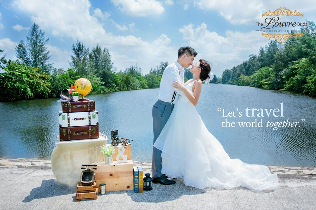 Styled Wedding Photoshoot-Travel Theme for your Singapore Pre-wedding Photoshoot Ideas