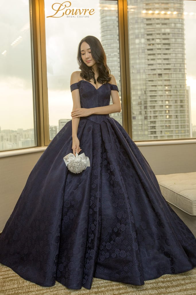 Louvre Bridal Couture Colored Gown