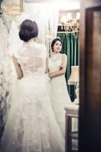 Korean sty;e bridal dress