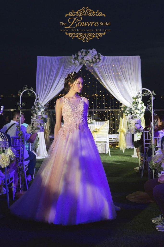 Korean style bridal gown