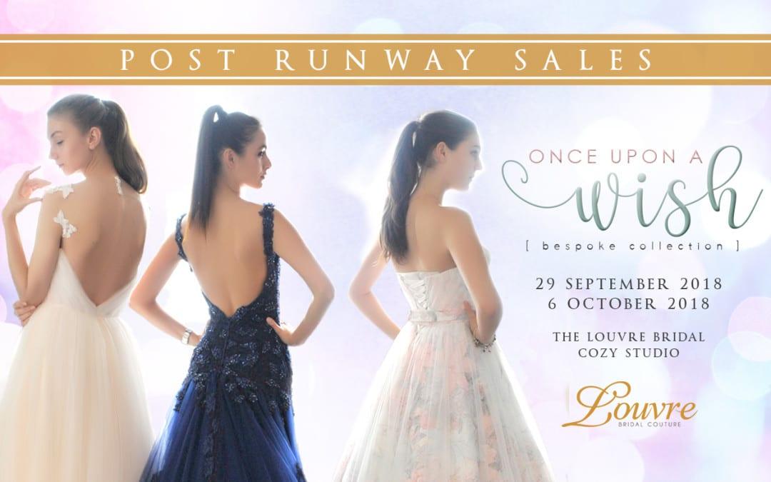Post Bridal Runway Sales