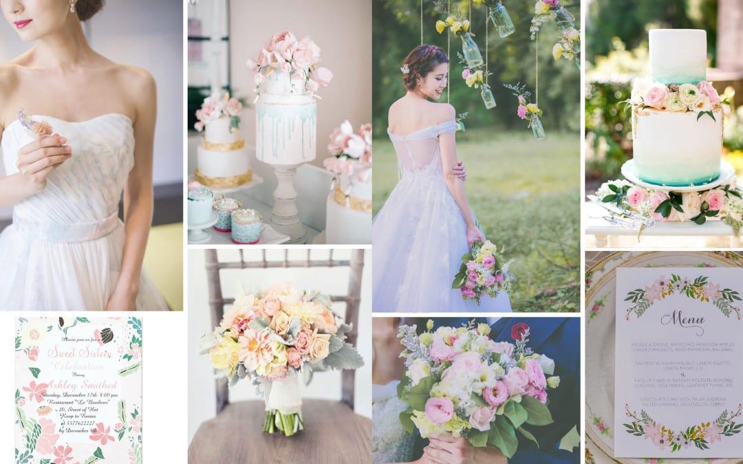Wedding Dress: 5 Popular Wedding Color Themes & Dresses