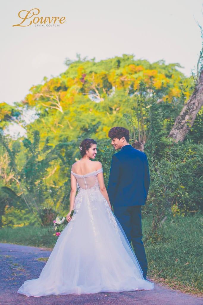 garden theme pre wedding
