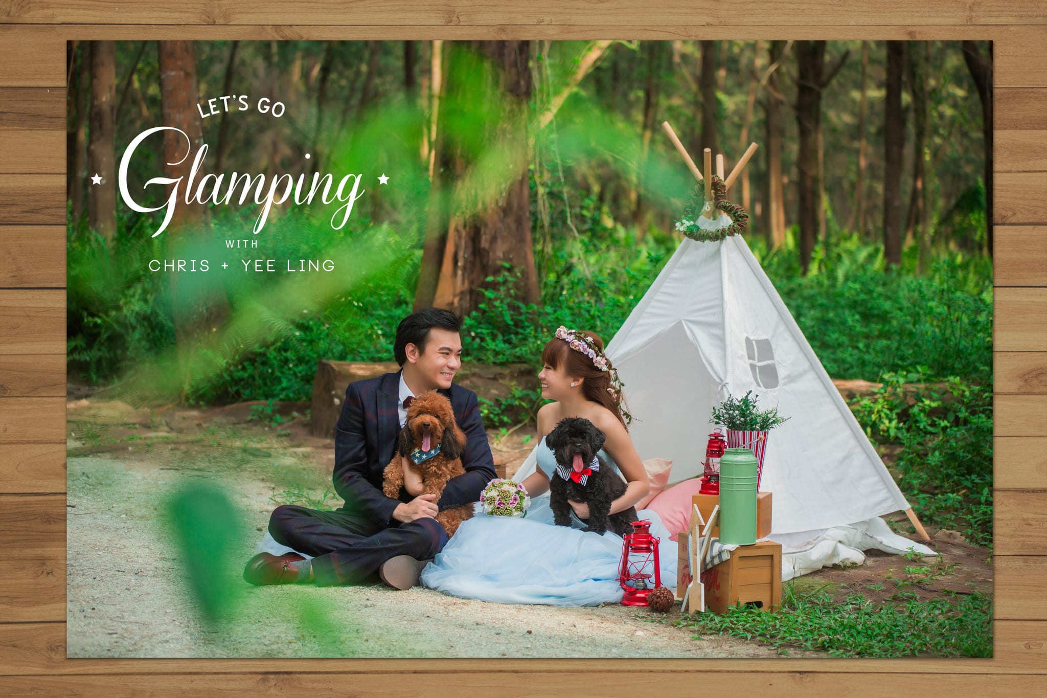 Singapore Pre-wedding Photoshoot – Intimate Glamping