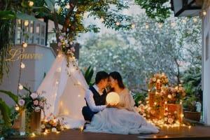 Pre-wedding night photography