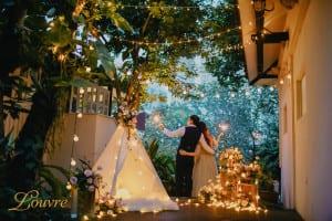 Pre-wedding night photo shoot