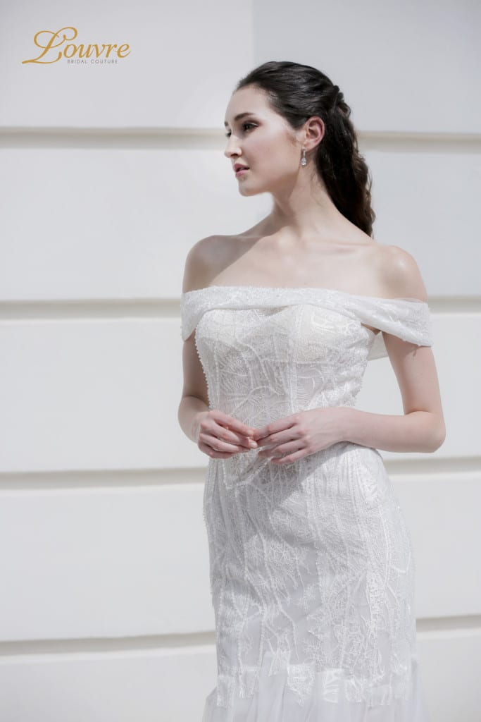 mermaid wedding dress for rent