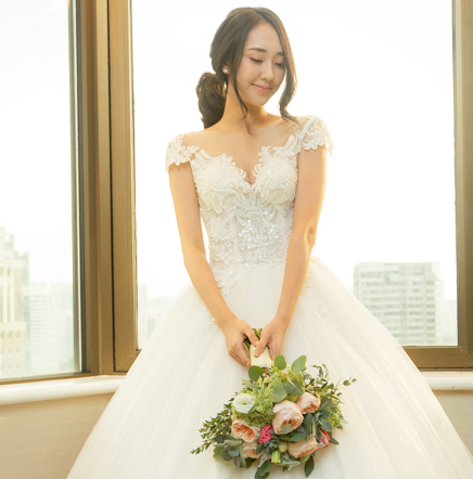 Korean wedding gown