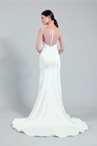 satin wedding gown -- Louvre Bridal