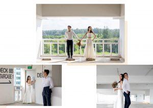 pre wedding photos Singapore -- Louvre Bridal