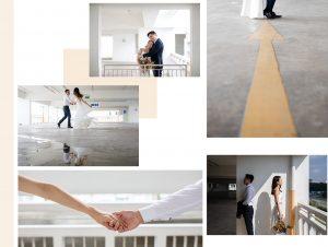 modern pre wedding photos Singapore -- Louvre Bridal
